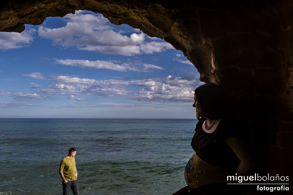 Pregnant session with Tamara and Wesley in the Costa Blanca in Spain
